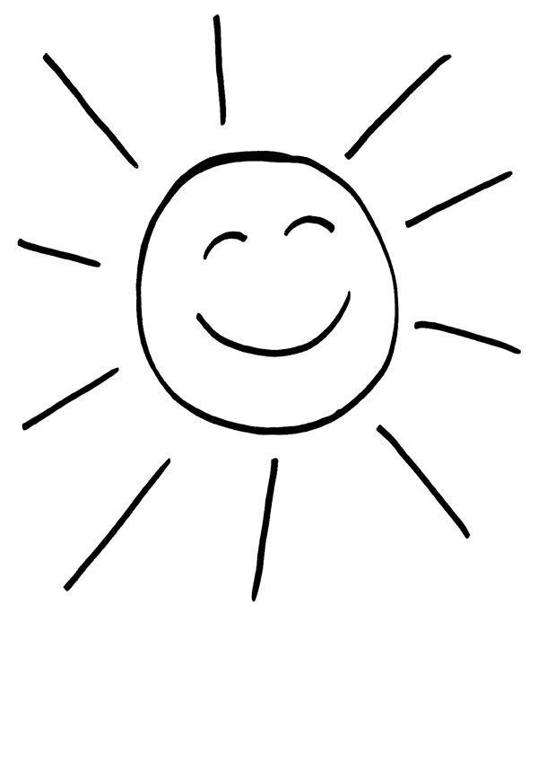 Sol risueño: dibujo para colorear e imprimir
