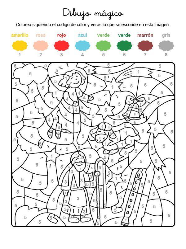 Dibujo m gico de ngel y pastor dibujo para colorear e imprimir - Dibujos juveniles para imprimir ...