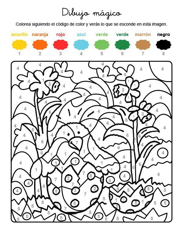 Dibujo Mágico De Polluelo Saliendo Del Huevo Dibujo Para Colorear E