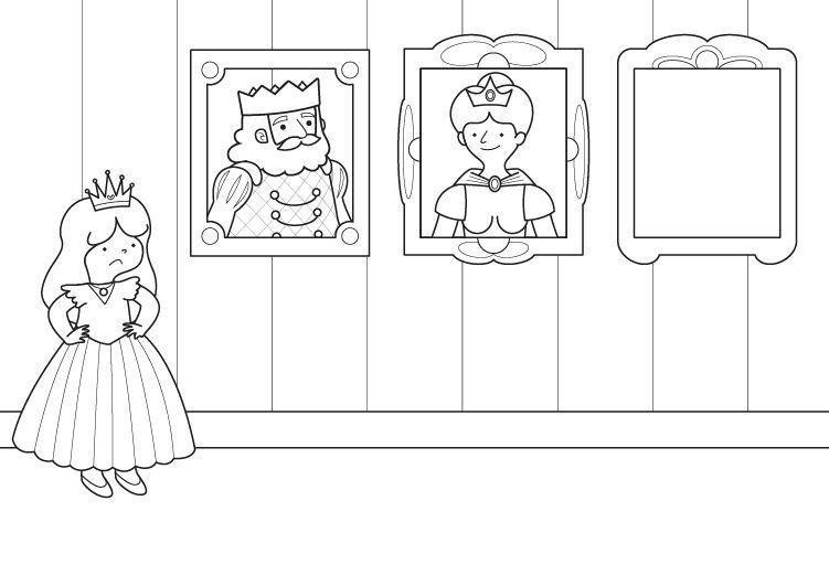 La Retrato De La Princesa Dibujo Para Colorear E Imprimir