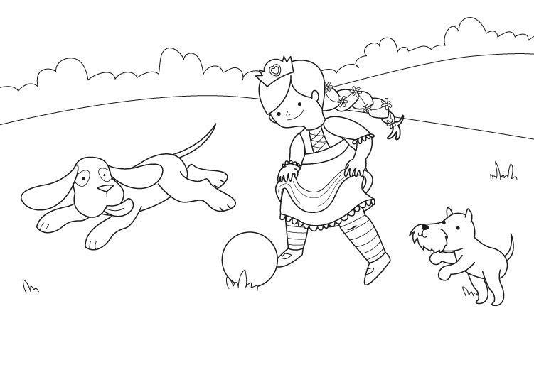 La princesa futbolista: dibujo para colorear e imprimir