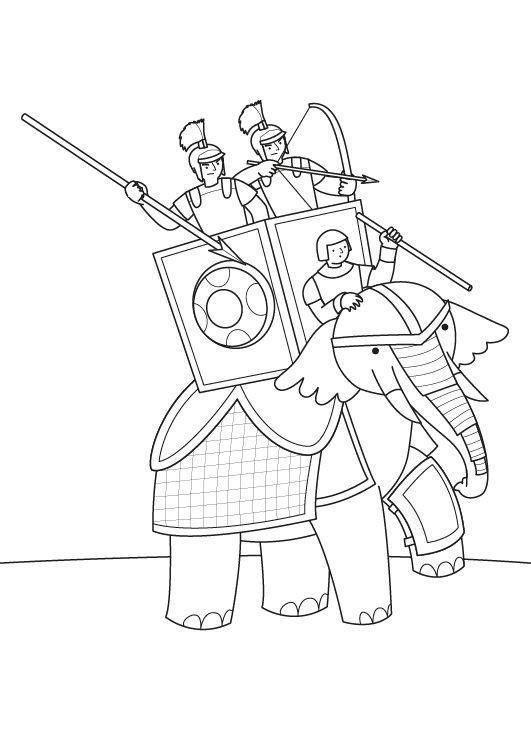 El elefante de Anibal: dibujo para colorear e imprimir