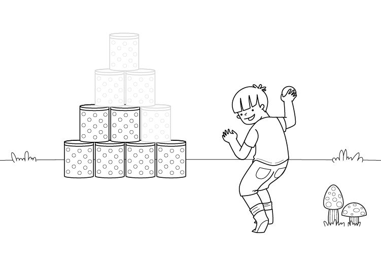 Juego infantil: dibujo para colorear e imprimir