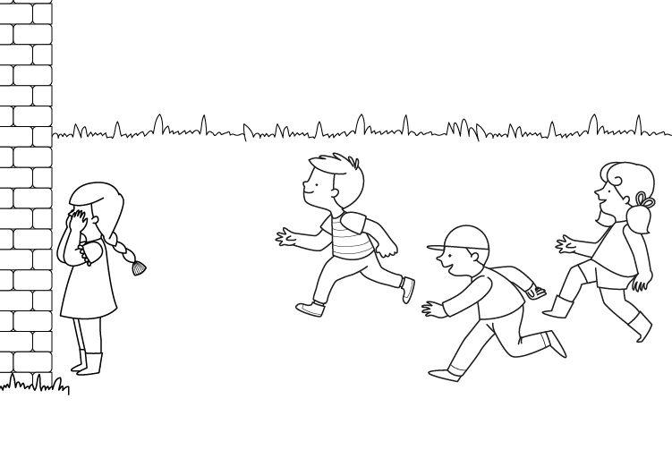 Láminas Para Colorear Juegos Tradicionales: Escondite Inglés: Dibujo Para Colorear E Imprimir