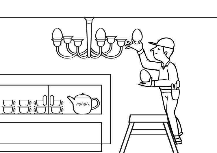 Electricista: dibujo para colorear e imprimir