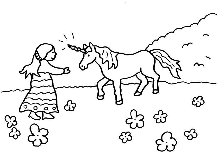 El Unicornio De La Princesa Dibujo Para Colorear E Imprimir