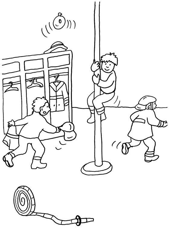 Parque de bomberos: dibujo para colorear e imprimir
