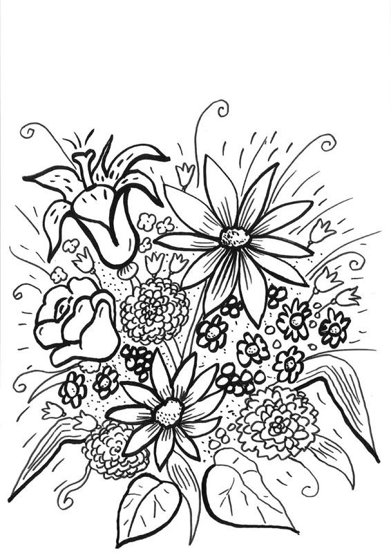 Dibujo De Hipopótamo Con Flores Para Colorear Dibujos Net