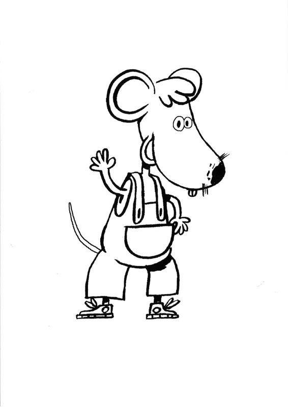 Tim, ratón chico: dibujo para colorear e imprimir