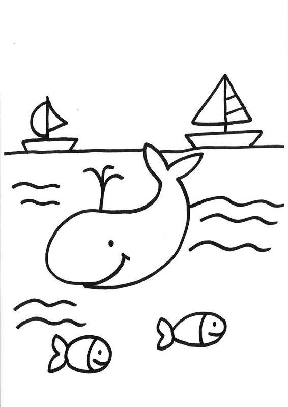 Ballena bajo el agua: dibujos para colorear e imprimir