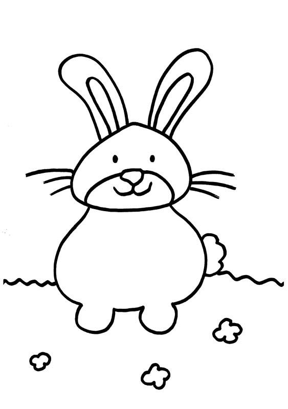 Un conejito: dibujo para colorear e imprimir