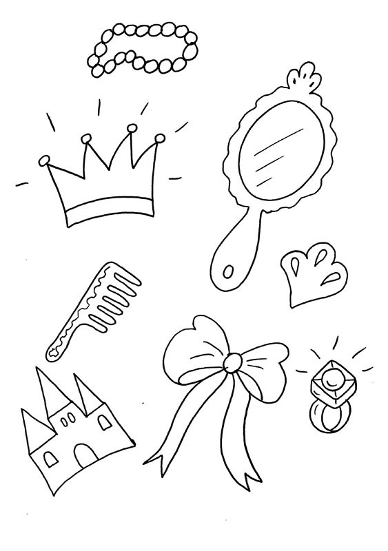 de princesa dibujo para colorear e imprimir