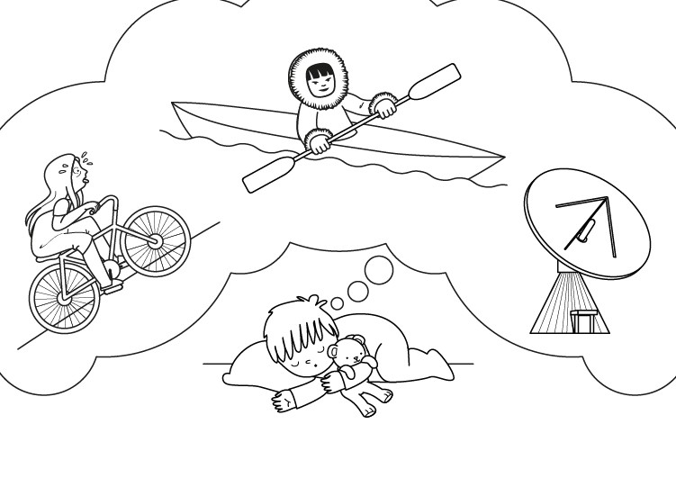 Imágenes de sueños: dibujo para colorear e imprimir