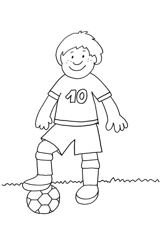 Dibujo para colorear de jugador de fútbol