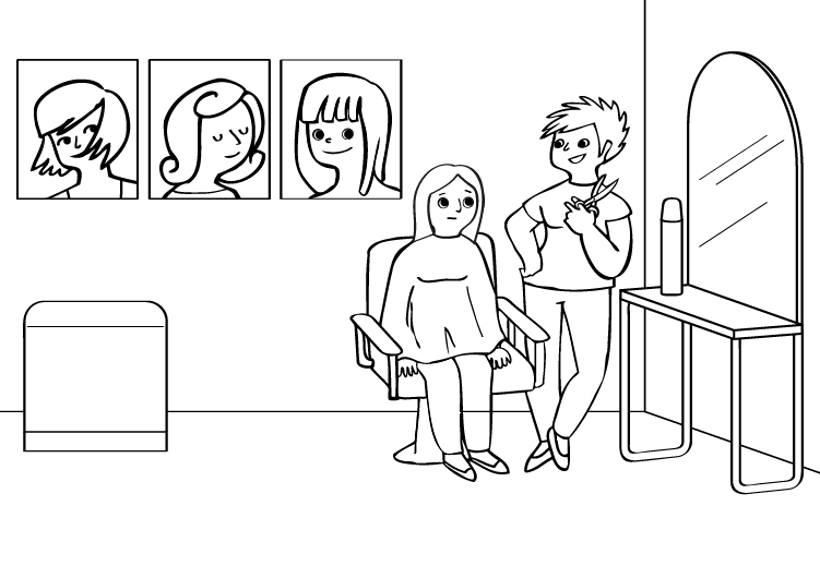 Dibujos De Medicos Para Colorear E Imprimir: Peluquera: Dibujo Para Colorear E Imprimir