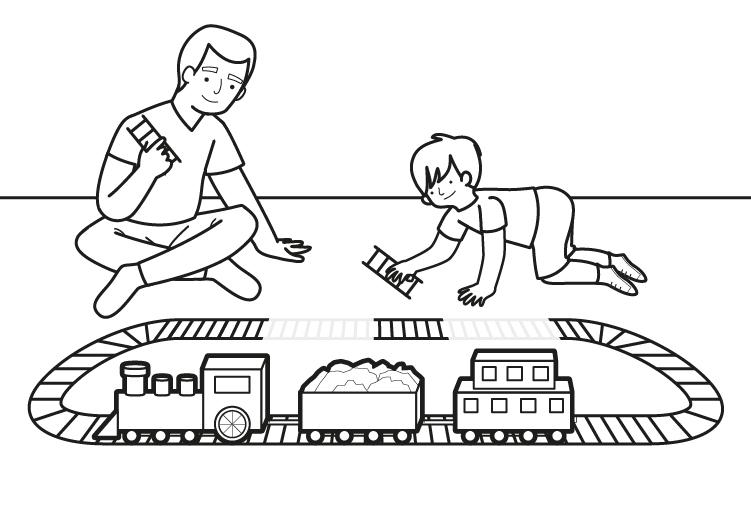 Dibujo para colorear de un tren eléctrico