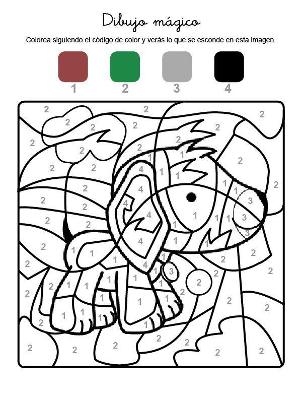 Dibujo Mágico De Un Perro Dibujo Para Colorear E Imprimir