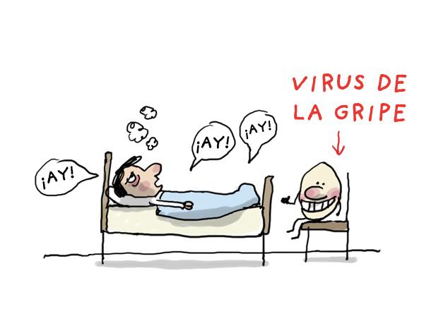 1. ¡Ay! ¡Ay! ¡Ay! / Virus de la gripe