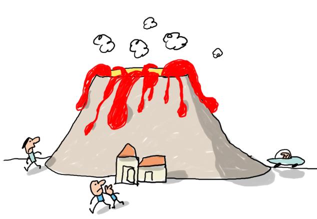 Explícale a los niños por qué entran los volcanes en erupción
