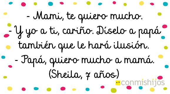 Amor por mamá... ¿y papá?