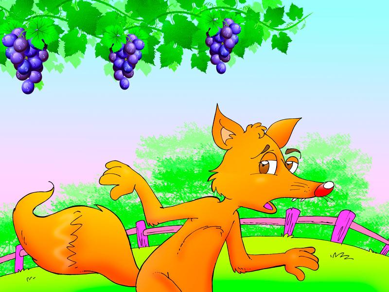 Fábulas 14123-fox-and-the-grapes-el-zorro-y-las-uvas-fabula-en