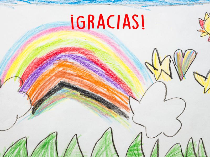 Sorteo dibujos de agradecimiento de los niños a los héroes del coronavirus