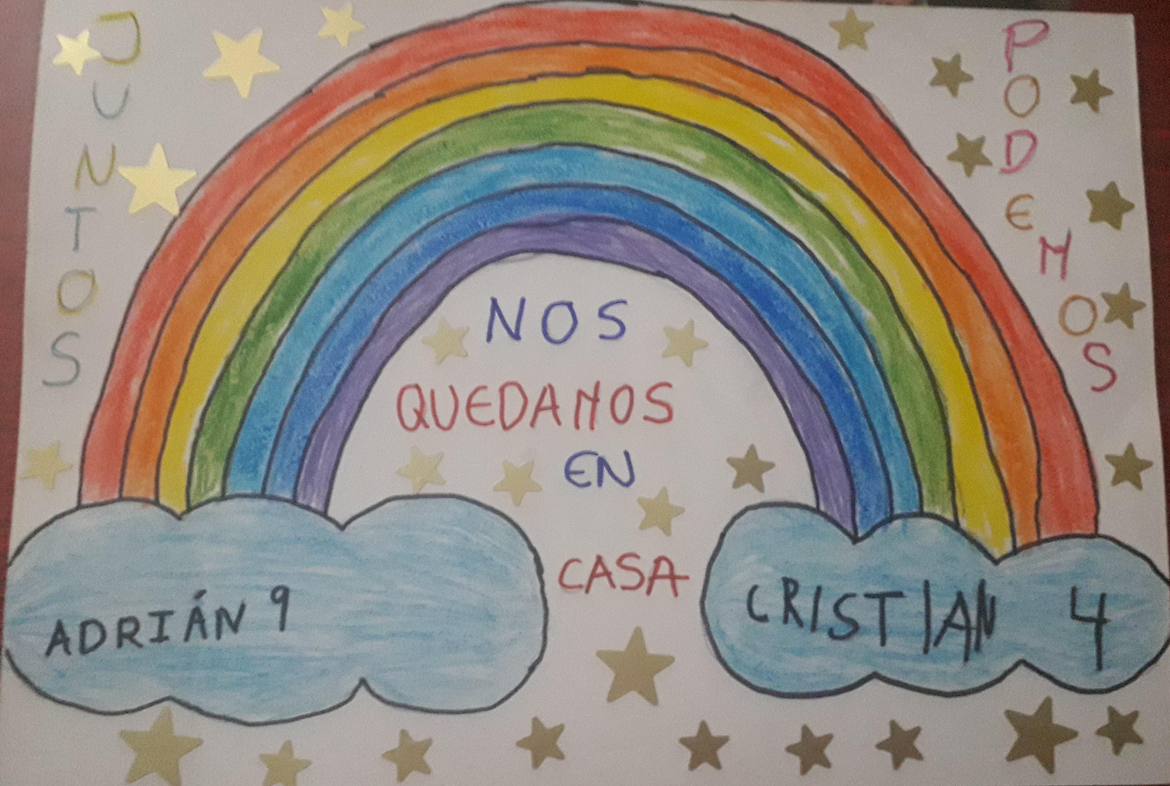 Adrián, 9 años y Cristian, 4 años.