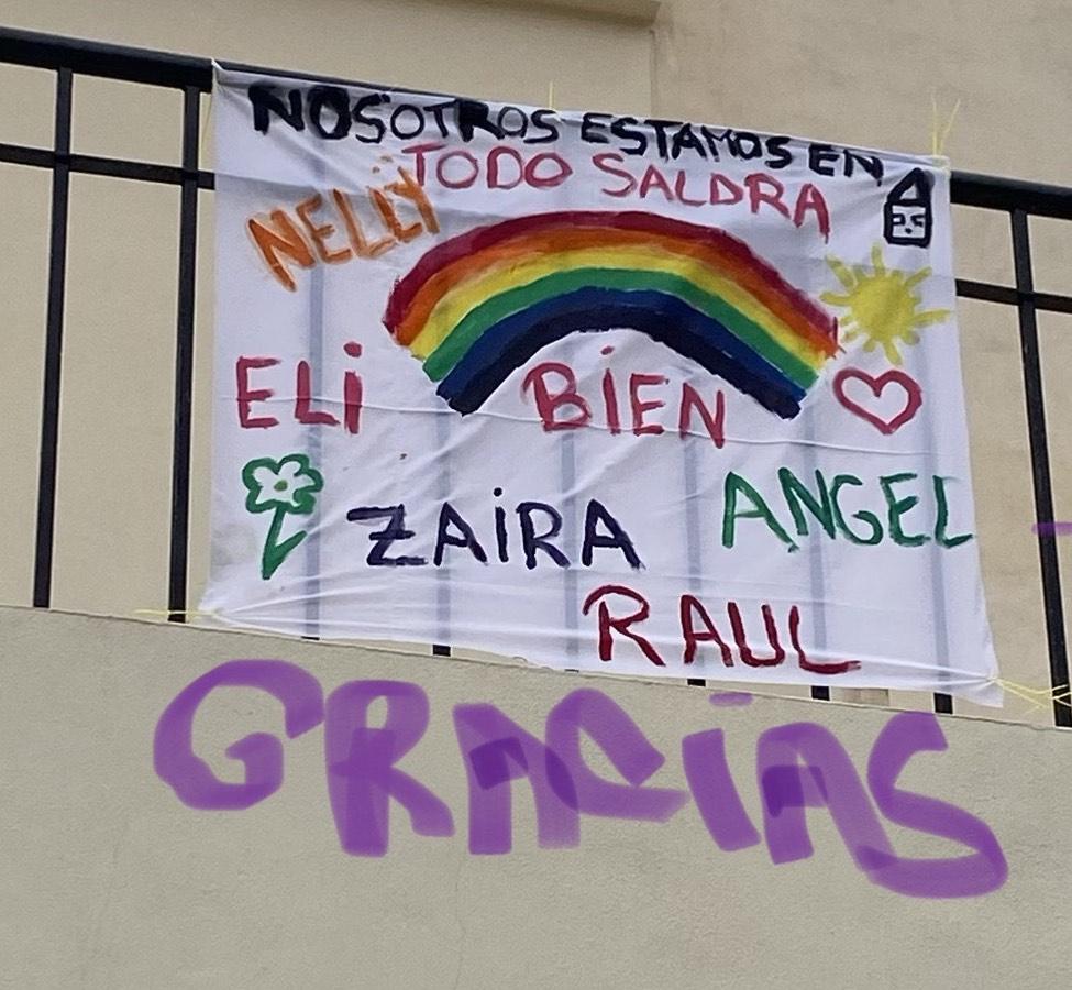 Zaira María, 9 año; Ángel, 7 años; Elisabeth, 4 años