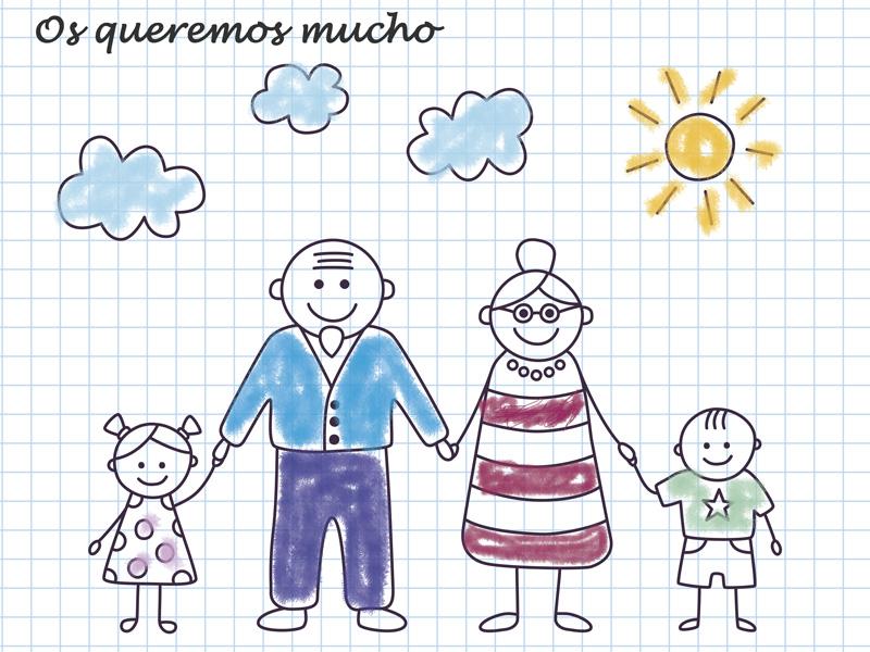 Dibujos solidarios para los abuelos
