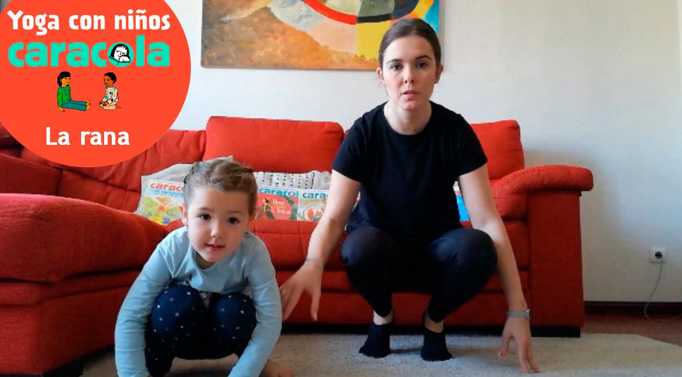 Posturas de yoga fáciles: la rana