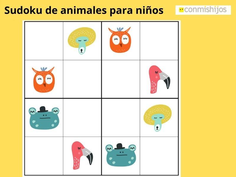 Sudoku de animales para niños