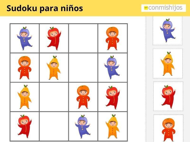 Sudoku de muñecos para niños