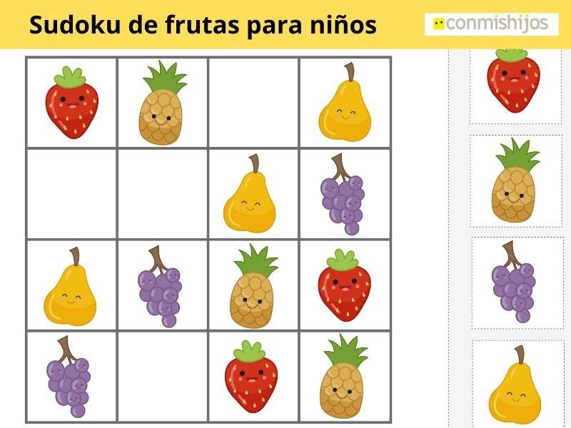 Sudoku de figuras para niños