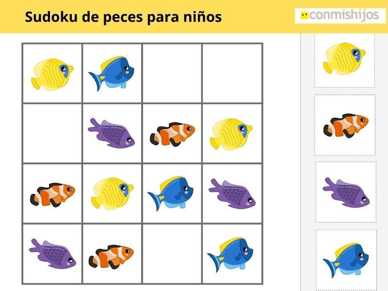 Sudoku de peces para niños