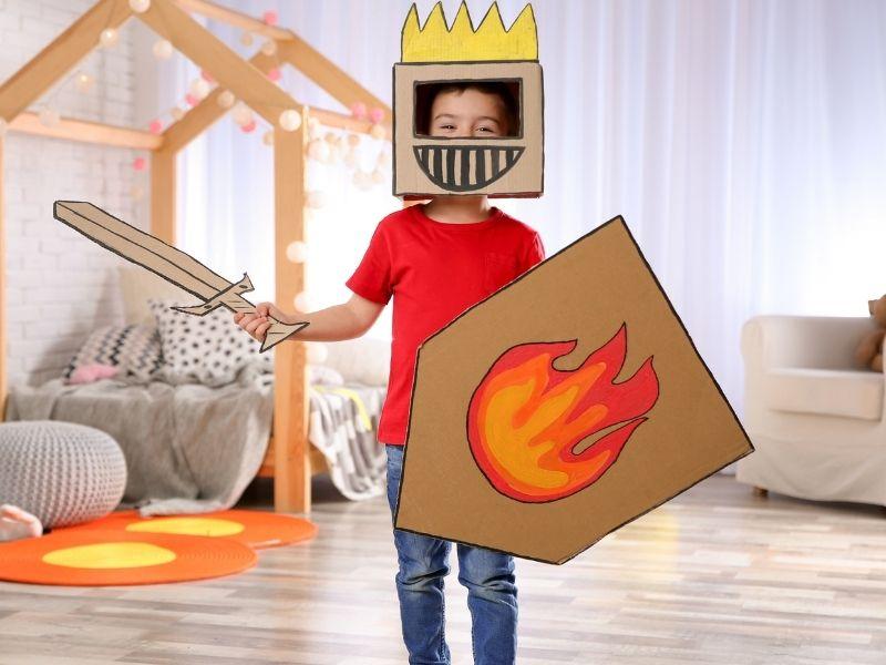 Disfraz de caballero medieval para bebés