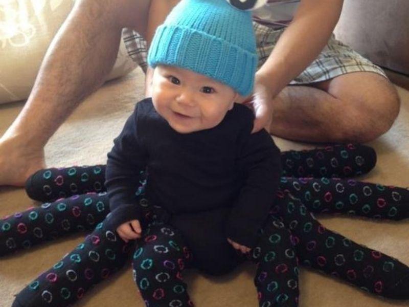 Disfraz casero de pulpo para bebés