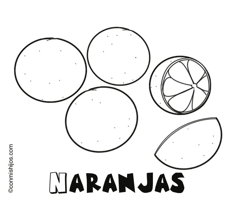 Naranjas Dibujos para colorear