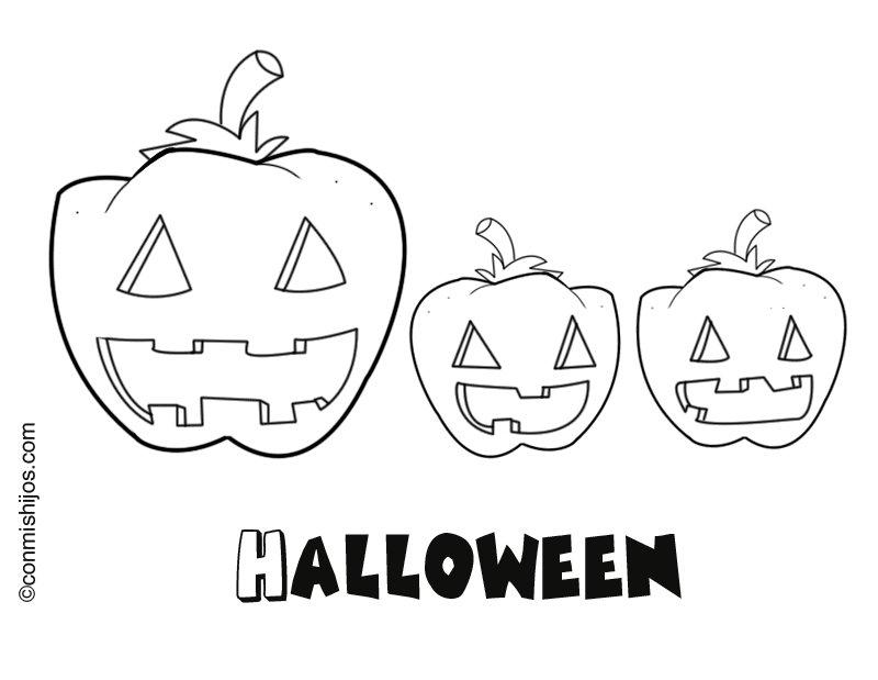 Halloween para colorear e imprimir - Dibujos infantiles halloween ...