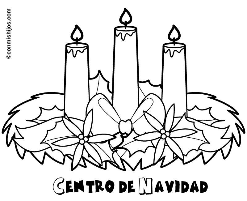 Centro de navidad dibujo para los ni os - Dibujo de navidad para ninos ...