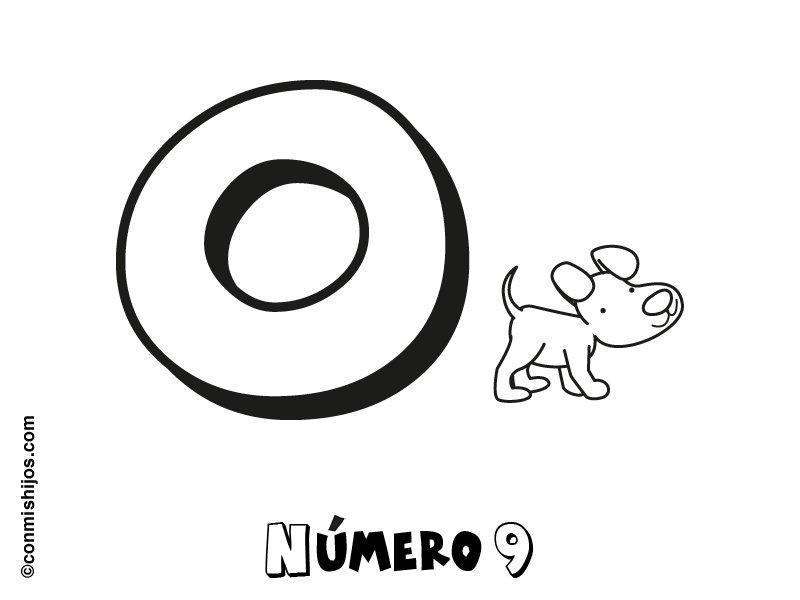 Número 0: Dibujos para colorear