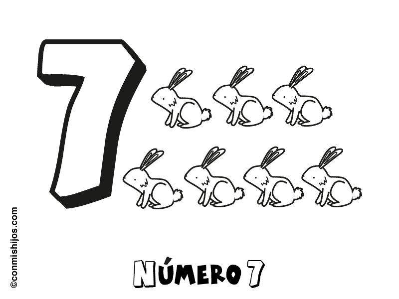 Dibujos Del Numero 7 Para Colorear: Número 7: Dibujos Para Colorear