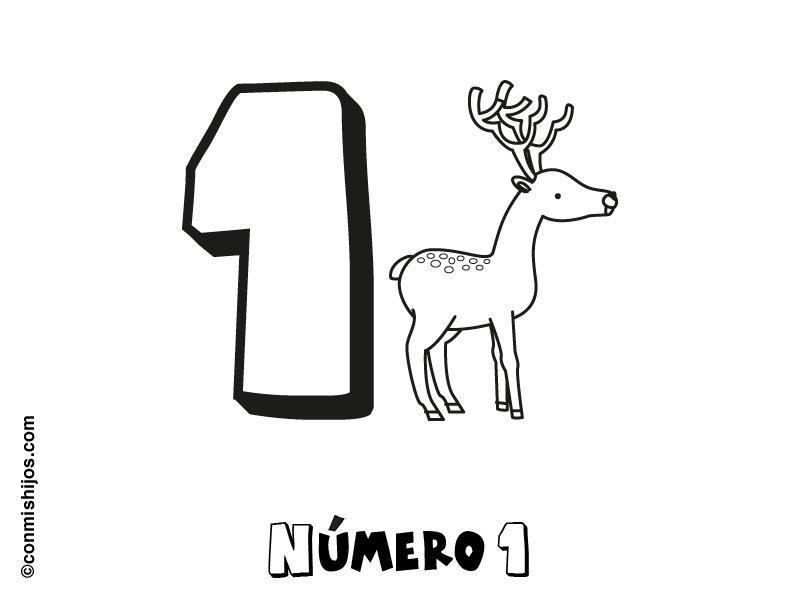 Dibujo Del Numero 1 Para Colorear: Número 1: Dibujos Para Colorear
