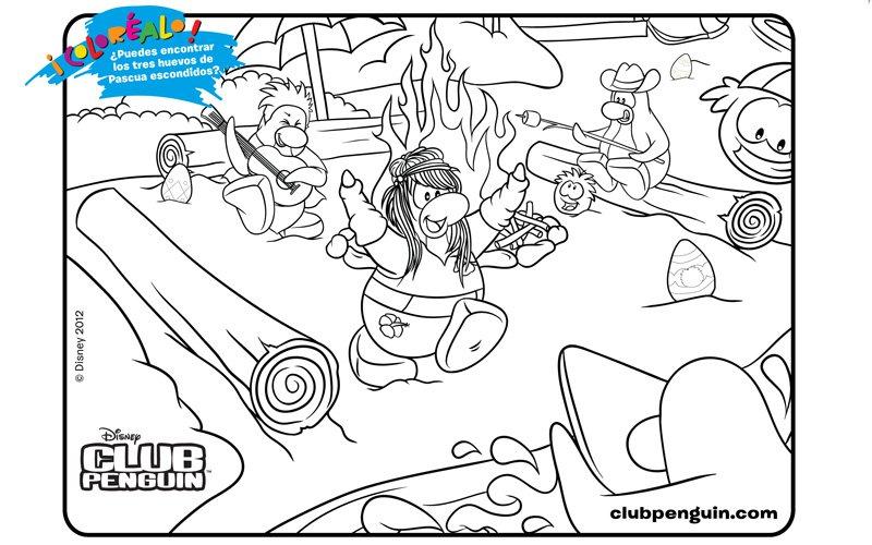 Dibujo infantil del Club Penguin para colorear
