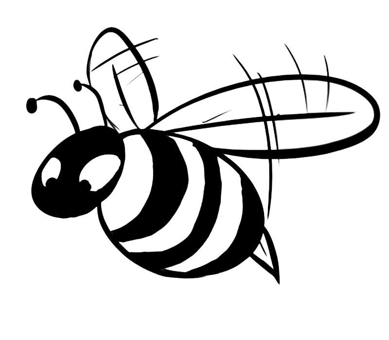 Dibujo para colorear con los niños de un abejorro