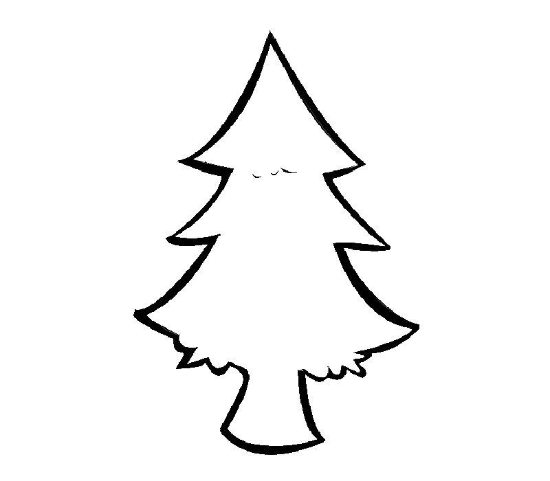 imprimir abeto de navidad dibujo para colorear
