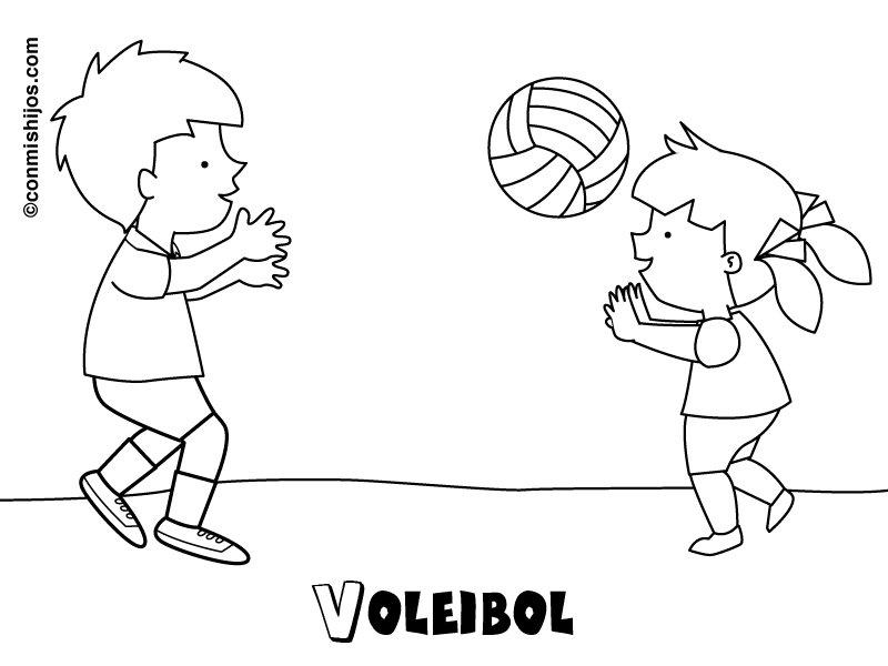 Imprimir Voleibol Dibujos Para Colorear