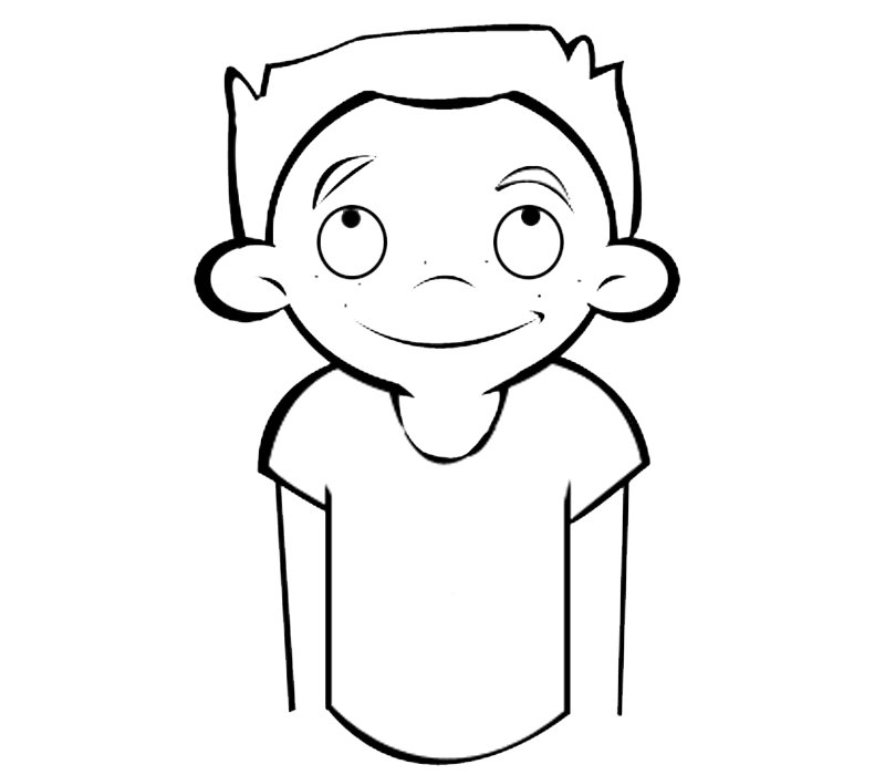 Niño con pecas: Dibujos para colorear