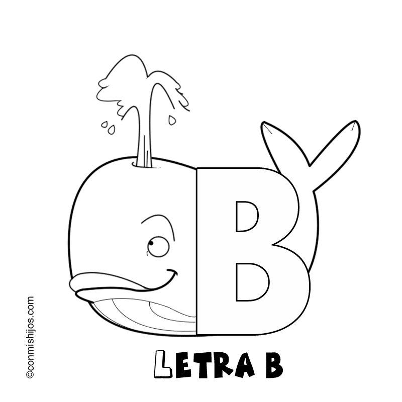 Letra B: Dibujos para colorear