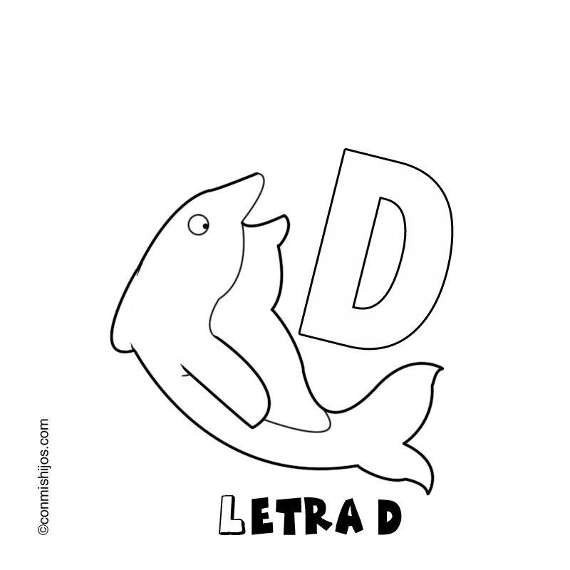 Letra D: Dibujos para colorear