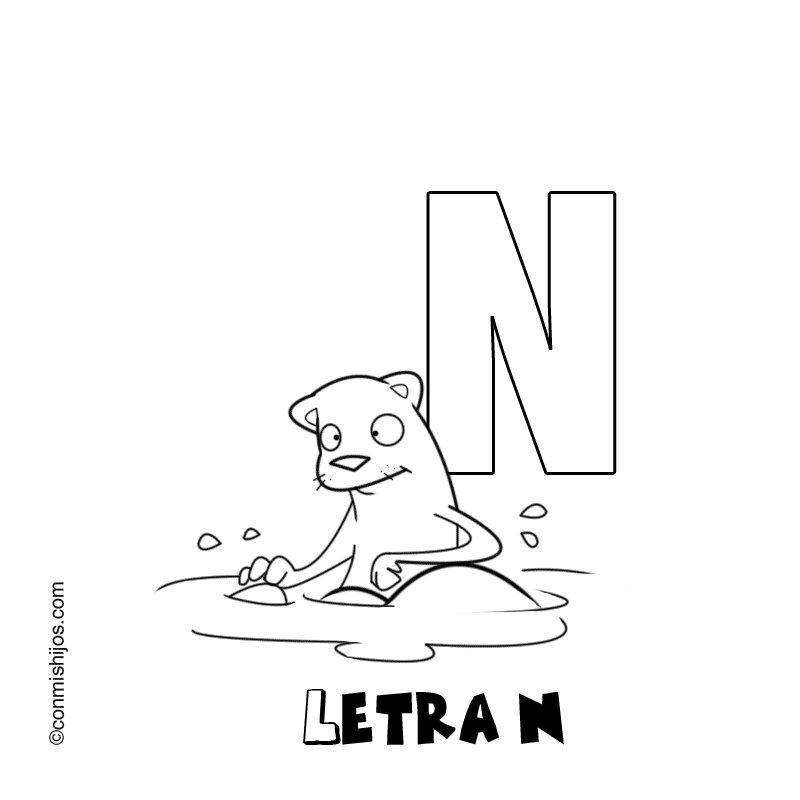 Dibujos Para Colorear Que Empiecen Con La Letra N